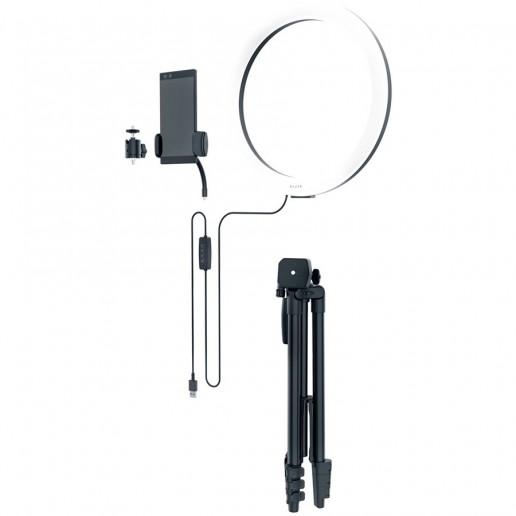 "Razer Ring Light, 12"" USB LED Ring Light for PC and Mobile Streaming, Customizable light spectrum, Adjustable brightness, Bulbs: 192pcs, Brightness: 500 lumens, Colors: 3000K, 4500K, 6500K (Warm White, Balanced White, Cool White), CRI: >80%"