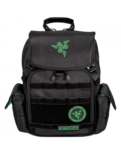 Razer Tactical Backpack (14), Made from robust 1680D ballistic nylon, Tear- and water-resistant exterior, Scratch proof interior, Soft padded shoulder straps and back panel, Adjustable chest buckle, 2 large interior compartments