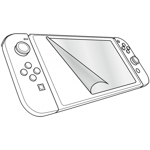 Speedlink GLANCE Screen Protection Kit - for Nintendo Switch, Crystal-clear film, Includes microfibre screen-cleaning cloth, Squeegee supplied