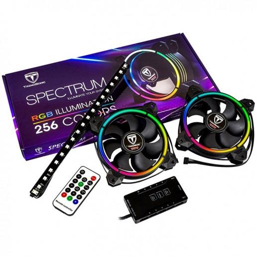 Cooling System Spectrum ARGB 256C ( 120x120x25) RGB, DC 5.0-13.8V, 280mA, 5V,1200rpm, 23.2dB