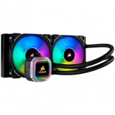 Corsair Hydro Series H100i RGB PLATINUM Liquid CPU Cooler, an all-in-one liquid CPU cooler with a 240mm radiator and vivid RGB lighting that's built for extreme CPU cooling, Cooling Socket Support Intel 115x, Intel 2011/2066, AMD AM3/AM2/AM4, TR4