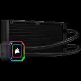 Corsair iCUE H100i ELITE CAPELLIX, 240mm Radiator, Dual 120mm ML RGB Fans, Software Control