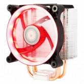Xigmatek WHIZ HDT EN9375, Intel LGA Socket 755, 115xx, 136x, 2011, AMD Socket AM2/ AM2+/ AM3/ AM3+/AM4/ FM1/ FM2/ FM2+ Universal mounting kit for AMD & Intel, SE II 120 mm (RED) highly efficient PWM fan, 6mm Heat-Pipex4, 12cmx1,800-2000RPM, TDP:150W