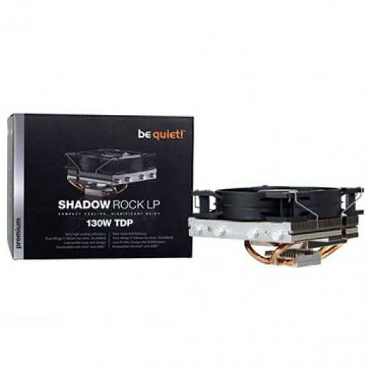 be quiet! Shadow Rock LP ntel: 775 / 115X / 1366 / LGA2011 Square ILM, AMD: AM2(+) / AM3(+) / FM1 / FM2(+), TDP 130W, Dimensions 134 x 122 x 75.4, Pure Wings 2, 1x, 3Y Warranty
