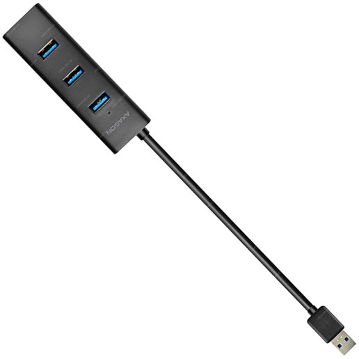 AXAGON HUE-S2B 4x USB3.0 Charging Hub, MicroUSB Charging Connector
