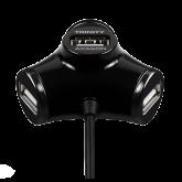 AXAGON HUE-X3B 4x USB2.0 TRINITY Black Hub
