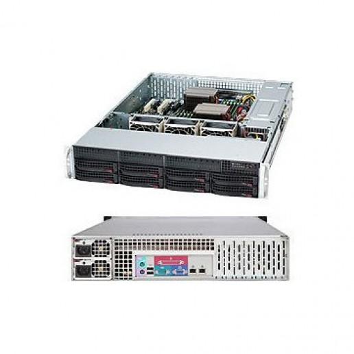 SUPERMICRO SuperChassis CSE-825TQ-R740LPB, 2U Rack-Mountable, 8x3.5 HS HDD bays, 2x3.5 fixed HDD bays, opt. Slim ODD, Extended ATX, 7 LP slots, Redundant PSU 740W 80+94% (1+1), Black
