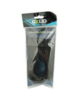 GELID 24pin Power extension cable 30cm individually sleeved BLACK