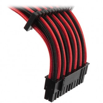 GELID 24pin Power extension cable 30cm individually sleeved BLack/Red