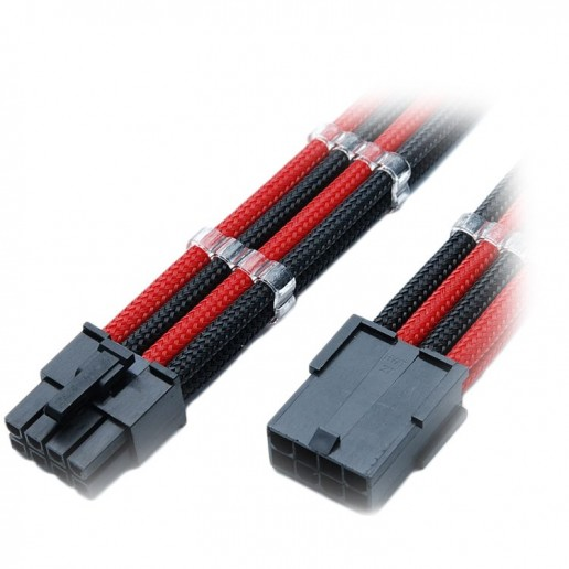 GELID 8pin Power extension cable 30cm individually sleeved (Red/Black)