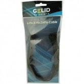 GELID 8pin Power extension cable 30cm individually sleeved black