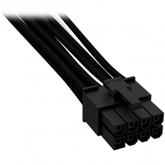 be quiet! CPU POWER CABLE CC-7710, Connectors 1x P8, cable length 700mm, Individually sleeved, black