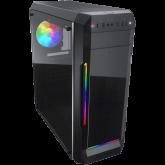 COUGAR MX331-T, Mid Tower, MiniITX/MicroATX/ATX, 204x481x443(mm), USB 3.0 x 2, USB 2.0 x 2, Mic x 1 / Audio x 1, RGB Control Button, Acyrlic with ARGB strips Front Panel, 120mm x 1(ARGB fan x1 pre-installed), 4mm Tempered Glass Left Panel, 5 Fans Max