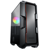 COUGAR MX440-A, Mid-Tower, Mini ITX/Micro ATX/ATX, 215x505x424(mm), Type C 3.1 x 1, USB 3.0 x 2, Mic x 1 / Audio x 1, Reset Button, 4mm Tempered Glass Left Panel, Brushed Metal Front Panel, 120mm ARGB Fan x 1 pre-installed, Maximum Number of Fans: 6