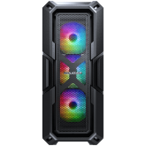 COUGAR MX440 MESH RGB, Mid-Tower, Mini ITX/Micro ATX/ATX, 215x505x424(mm), USB 3.0 x 2, USB 2.0 x 1, Mic x 1 / Audio x 1, RGB Button, 4mm Tempered Glass Left Panel, Mesh Front Panel, 120mm ARGB Fans x 3 pre-installed, Maximum Number of Fans: 6