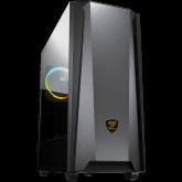 COUGAR MX660 Iron RGB-Dark Black, Mid-Tower, Mini ITX / Micro ATX / ATX / CEB / E-ATX, 213x495x474(mm), Type C 3.1 x 1, USB3.0 x 2, Mic x 1 / Audio x 1, RGB Button, 4mm Tempered Glass Left Panel, Iron Front Panel, ARGB VK120 Rear fan x1 pre-installed