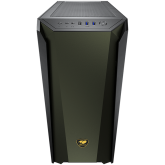 COUGAR MX660 Iron RGB-Midnight Green, Mid-Tower, Mini ITX / Micro ATX/ATX/CEB/ E-ATX, 213x495x474(mm), Type C 3.1 x 1, USB3.0 x 2, Mic x 1 / Audio x 1, RGB Button, 4mm Tempered Glass Left Panel, Iron Front Panel, ARGB VK120 Rear fan x 1 pre-installed
