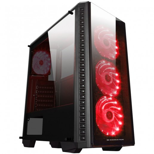Chassis ASTRO A EN40865 TEMPERED DESIGN (Three sides tempered glass), ATX , Mini ITX, Micro ATX, USB 3.0x1, USB 2.0x2, HD Audio in/out jacks, Pre-install 4x120mm LED Red Fans, CPU Cooler up to 158mm, VGA up to 360mm
