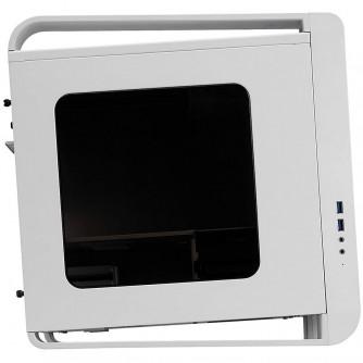 Chassis Aquila White Window, Mini ITX, Micro ATX, USB 3.0 x2, Pre-install 120mm fan X 1 /200mm LED fan x 1, CPU Cooler Height 180 mm, VGA up to 330 mm, Slim design, window side panel, white