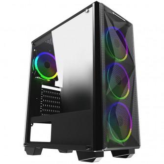 Chassis Beast EN42876, ATX, M-ATX, Mini ITX, USB3.0x1, USB2.0x2, Front Mesh Grill & Left Tempered Glass, CY120 Fansx4 (Fx3 & Rx1)