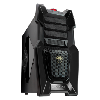 Chassis COUGAR CHALLENGER - BLACK, Middle Tower, Micro ATX/ATX,Dimension (WxHxD) 268x514x523(mm), Maximum Graphics Cards Length 300mm/330mm/410mm, Maximum CPU cooler height 170mm, Support for 7 fans, Acrylic side panel, black