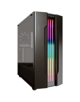 "Chassis COUGAR Gemini S-Iron Gray, Mid-Tower, Mini ITX / Micro ATX / ATX / CEB / E-ATX, USB3.0 x 2, USB2.0 x 1, Mic x 1 / Audio x 1, RGB Control Button, 2.5"" Drive Bay 5+2 (converted from 3.5"" drive bays) / (2 SSD trays included"
