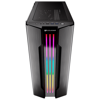 """Chassis COUGAR Gemini S-Iron Gray, Mid-Tower, Mini ITX / Micro ATX / ATX / CEB / E-ATX, USB3.0 x 2, USB2.0 x 1, Mic x 1 / Audio x 1, RGB Control Button, 2.5"""" Drive Bay 5+2 (converted from 3.5"""" drive bays) / (2 SSD trays included"""