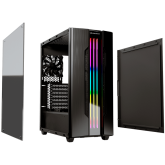 Chassis COUGAR Gemini S-Iron Gray, Mid-Tower, Mini ITX / Micro ATX / ATX / CEB / E-ATX, USB3.0 x 2, USB2.0 x 1, Mic x 1 / Audio x 1, RGB Control Button, 2.5 Drive Bay 5+2 (converted from 3.5 drive bays) / (2 SSD trays included