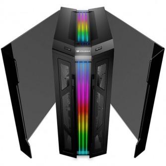 Chassis COUGAR Gemini T,Middle Tower,227 x 535 x 527 (mm),Mini ITX / Micro ATX / ATX / CEB / E-ATX,USB 3.1 Type-C x 1 / USB3.0 x 2, Mic x 1 / Audio x 1, RGB Control Button, PSU-Standard ATX PS2