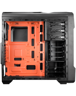 Chassis COUGAR MX310, Middle Tower, Mini-ITX/Micro ATX/ATX, Side Panel-Transparent Window, Dimension (WxHxD)-209mm x 482mm x 492mm, Max. Graphic Cards Length-310mm,USB3.0x1/USB2.0x1/Micx1 Audiox1/Fan Controller/ Quick Charging for Mobile phone