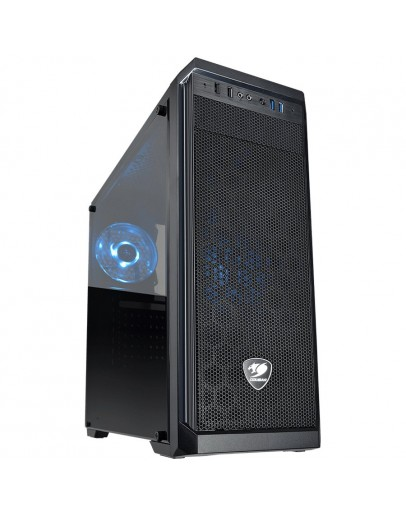 Chassis COUGAR MX330-S, Mid-Tower, Mini-ITX / Micro ATX / ATX, 195 x 473 x 427 (mm), USB 3.0 x 2 / USB 2.0 x 2 / Mic x 1 / Audio x 1, 1 x LED Rear Fan Pre-installed, Transparent Left Side Panel, PSU - Standard ATX PS2, Maximum Number of Fans: 5 max.