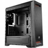 Chassis COUGAR MX350 MESH, Middle Tower,Mini ITX / Micro ATX / ATX,195 x 473 x 427 (mm),USB3.0 x 1 / USB2.0 x 1, Mic x 1, Audio x 1,Tempered Glass,PSU-Standard ATX PS2,2+2 (converted from 3.5 drive bays)