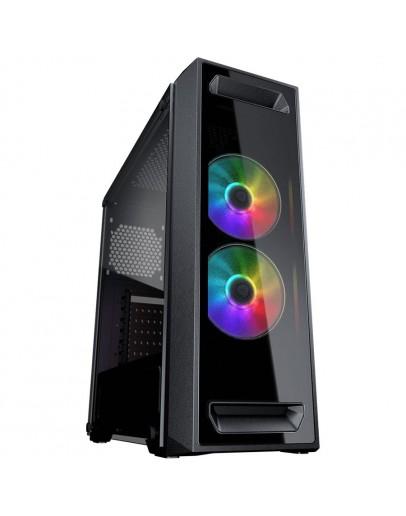 Chassis COUGAR MX350 RGB, Mid-Tower, Mini-ITX/Micro ATX/ATX, 195 x 473 x 427 (mm), USB2.0 x 1 / USB3.0 x 1 /Mic x 1 / Audio x 1, Tempered Glass, PSU: Standard ATX PS2, Max.PSU Length: 200mm, Maximum Number of Fans - 5 max, Expansion Slots: 7