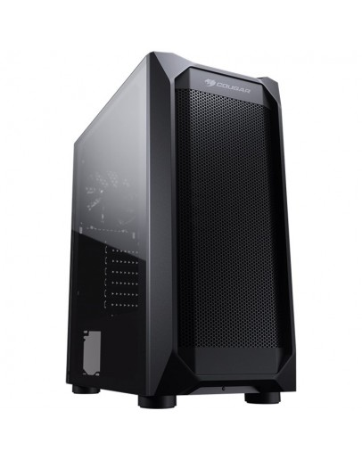 Chassis COUGAR MX410 Mesh-G, Mid Tower, MiniITX/MicroATX/ATX, 210 x 455 x 380 (mm), USB 3.0 x 2, USB 2.0 x 2, Mic x 1 / Audio x 1, Reset Button, Mesh Front Panel, 120mm x 1(Black fan x 1 pre-installed), Transparent Left Panel - 4mm Tempered Glass