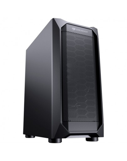 Chassis COUGAR MX410 Mesh, Mid Tower, Mini ITX / Micro ATX / ATX, 210 x 455 x 380 (mm), USB3.0 x 2, USB2.0 x 2, Mic x 1 / Audio x 1, Reset Button, Mesh Front Panel, Pre-installed Fans: Rear 120mm x 1 (Black fan x 1 pre-installed), Metal Left Panel