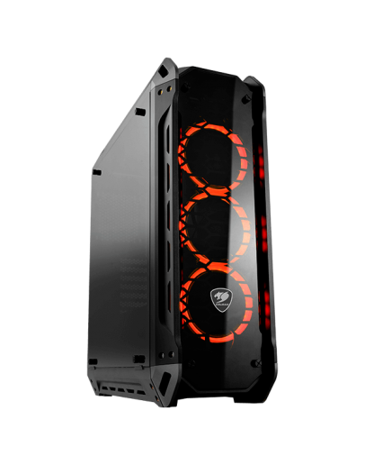 Chassis COUGAR PANZER-G, Mid-Tower, Mini ITX/Micro ATX/ATX/ CEB, Dimension (WxHxD) 208x565x520(mm), Max. Graphics Card Length 425mm (400mm with frontal fans), Max. CPU Cooler Height 160 (mm), Water Cooling Support,USB3.0x2/USB2.0x2/Micx1/Auduox1