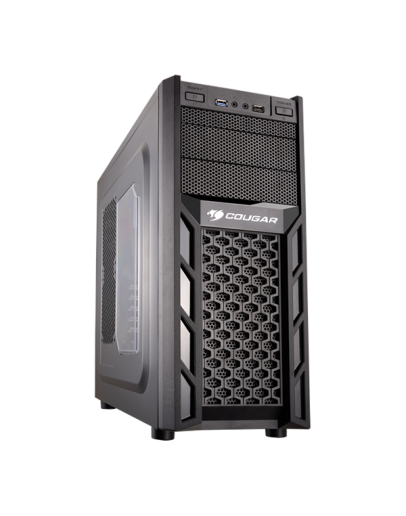 Chassis COUGAR SOLUTION 2, Middle Tower, Micro ATX/ATX, Dimension 195(W)x430(H)x480(D) mm, Max. Graphic cards length-310 mm, Max. CPU cooler height-165 mm, USB 3.0 x1 / USB 2.0 x1 / HD audio
