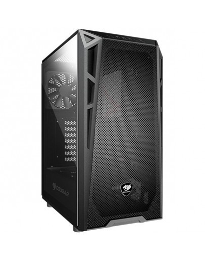 Chassis COUGAR Turret MESH,Mid-Tower,Mini ITX / Micro ATX / ATX,USB3.0 x 2 / USB2.0 x 1, Mic x 1, Audio x 1,206 x 461 x 420 (mm),Tempered Glass,PSU-Standard ATX PS2,2+2 (converted from 3.5 drive bays) + 2br. 140mm fans