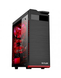 Chassis DELUX DW701 ATX,HDD 4, SSD 3 USB2.0, without PSU, Black