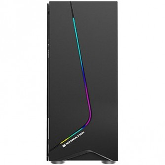 Chassis Eros EN43378, ATX, Micro ATX, USB3.0x1+USB2.0x1, Rainbow LED Front Panel, Left Tempered Glass, Rear SYNC XCR120 Fan
