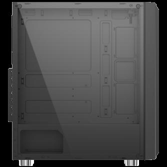 Chassis Helios EN43224, ATX, M-ATX, Mini ITX USB3.0x1 + USB2.0x2, Rainbow LED Stripe Frontpanel, Left Tempered Glass, 1xCR120