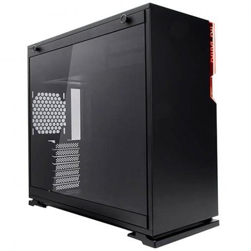Chassis In Win 101 Mid Tower,ATX,Micro-ATX,Mini-ITX, Tempered Glass,Front Ports 2xUSB 3.0 HD Audio, Dimension 445x220x480mm,1x120mm Rear Fan/120 mm Radiator 2x120mm Side Fan/240mm Radiator,3x120mm Bottom Fan/360mm Radiator,black