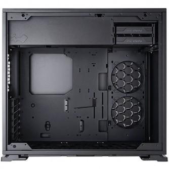 """Chassis In Win 103 Mid Tower, Tempered Glass, 12""""x10.5"""" ATX, Micro-ATX, Mini-ITX, VGA Card Length: 421mm (Maximum), CPU Heatsink Height: 160mm, USB3,0x2+AUDIO(HD)/RGB lighting, black"""
