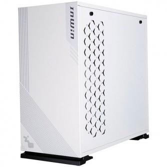 "Chassis In Win 103 Mid Tower, Tempered Glass, 12""x10.5"" ATX, Micro-ATX, Mini-ITX, VGA Card Length: 421mm (Maximum), CPU Heatsink Height: 160mm, USB3,0x2+AUDIO(HD)/RGB lighting, white"