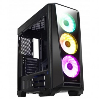 Chassis Mystic 9 TEMPERED DESIGN EN40735 (Two side tempered glass (front and left), ATX, Mini ITX, Micro ATX, USB 2.0x2, USB 3.0x2, CH120 RGB Fan x3 + CHB1 pre-install), HD Audio in/out jacks, CPU cooler up to 160mm, VGA up to 390mm