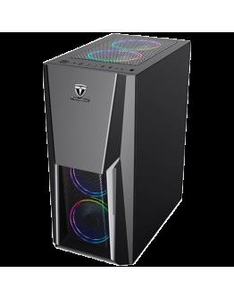 """Chassis PIONEER FC-PI07A-S, ATX, 7 slots, 2 X 3.5"""" H.D., 2 X 2.5"""", 1 x USB 3.0, 2 X USB2.0 / 2 x AUDIO /, w/o PSU , 3xRGB Hydraulic coolers with remote control (210mmx480mmx370mm)Black"""