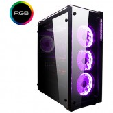 Chassis PROSPER RGB EN9726 TEMPERED DESIGN, E-ATX, ATX , Mini ITX, Micro ATX USB 3.0x4, HD Audio in/out jacks, Pre-install 120mmx4 (SC120 RGB fan), CPU Cooler up to 158mm, VGA up to 330mm, Liquid Cooling Compatible