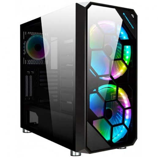 Chassis ZEST EN41541 Two Panel Front and Left Side Tempered Glass, Rainbow LED Bar, Front 2x20cm RGB Fans CY200, Rear 1x12cm RGB Fans CY120, Rainbow Hub, Remote, CPU Cooler up to 180mm, VGA Card up to 430mm,E-ATX, ATX,M-ATX,Mini ITX, Liquid Cooling Compat