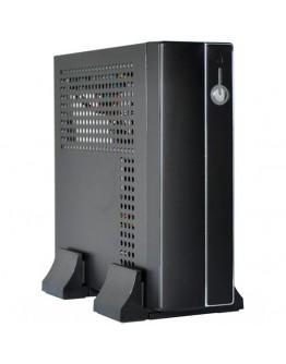 E-mini 3002 Black/Silver, 120W DC/DC + 12V/5A adapter, Mini-ITX chassis