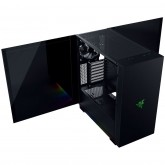 """Razer Tomahawk ATX, E-ATX, ATX, Micro-ATX, Mini-ITX, SPCC Steel (0,8mm) Thick and All Tempered Glass Side Panels, 7 Expansion Slots, ATX, Up to 210mm, Razer Chroma™ Underglow, 3 x 3.5"""" or 2.5"""" HDD or SSD, 2 x 2.5"""" SSD"""